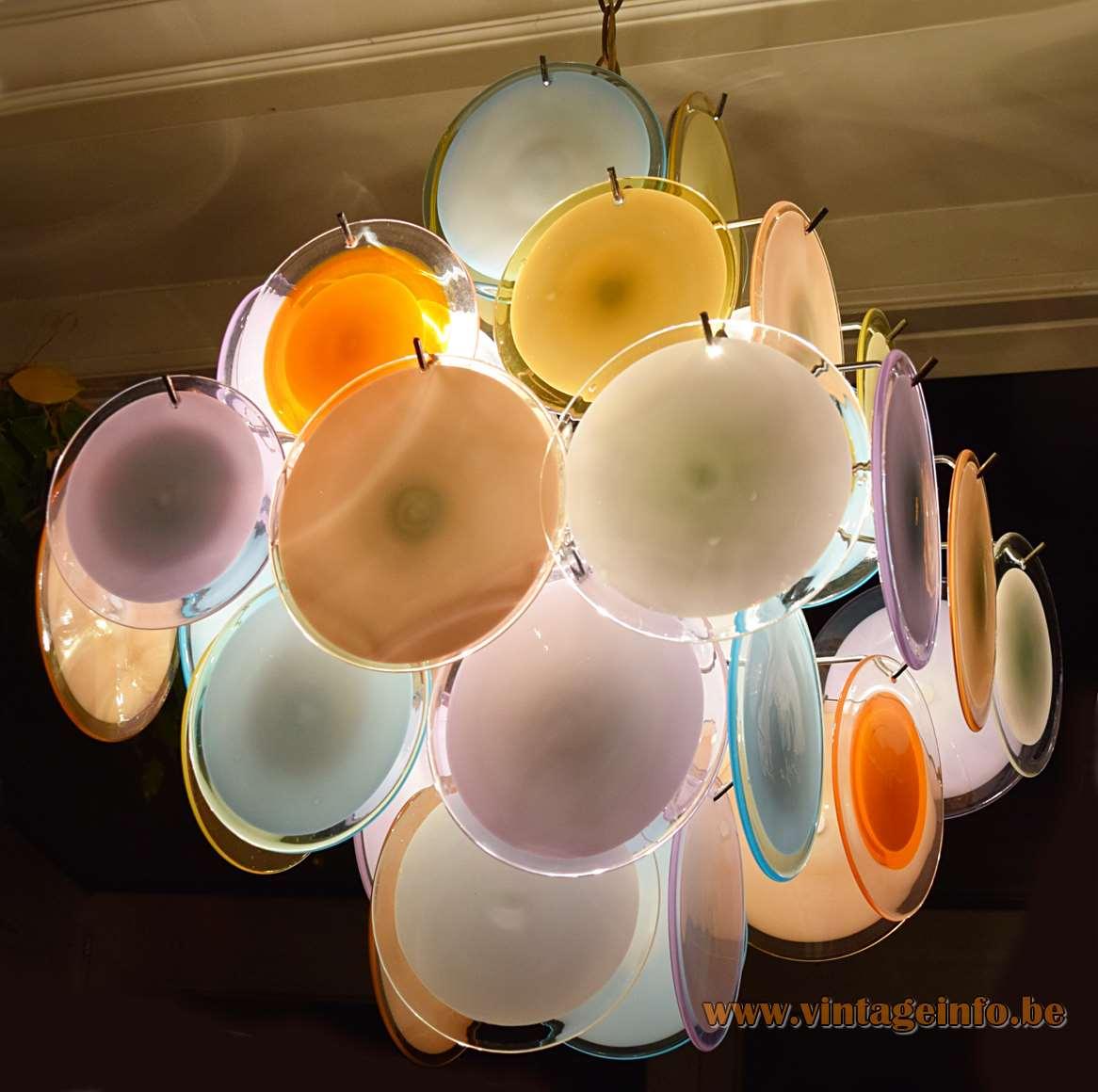 Gino Vistosi Multicoloured Discs Chandelier