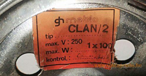 Harvey Guzzini Meblo Clan Floor Lamp - label