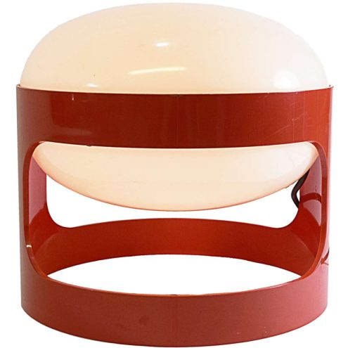 Joe Colombo table lamp KD 27 Kartell round ABS plastic stackable MCM 1960s 1970s MCM Mid-Century Modern