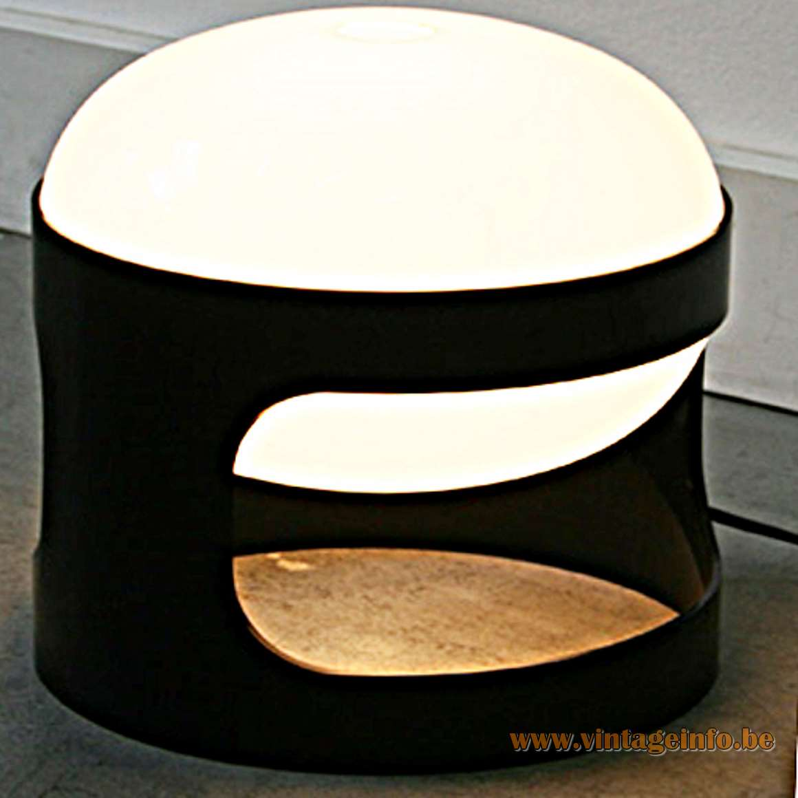 Joe Colombo KD27 Kartell Table Lamp - Black And White Version
