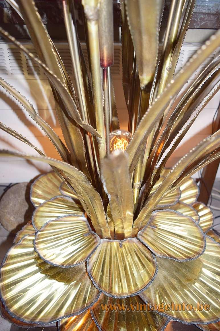 Maison Jansen Cattail and Water Lilies Floor Lamp