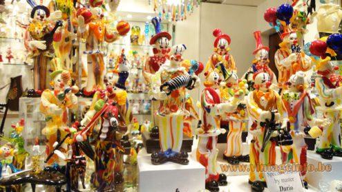 Murano Clowns Venice Italy 2014 - Made by glass master Dario
