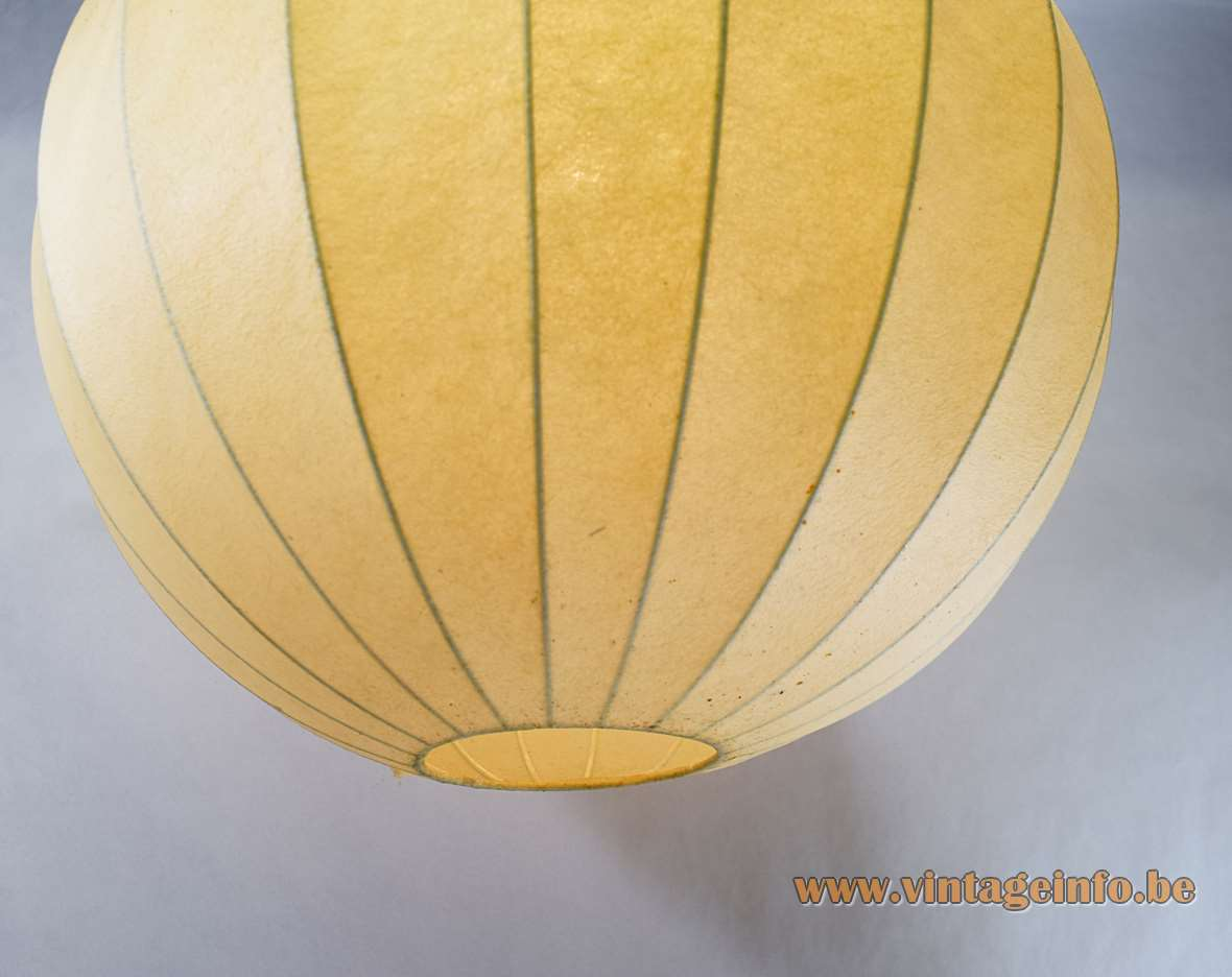 Raak Chrysaline pendant lamp big Cocoon plastic globe model B-1057 1950s 1960s vintage light MCM