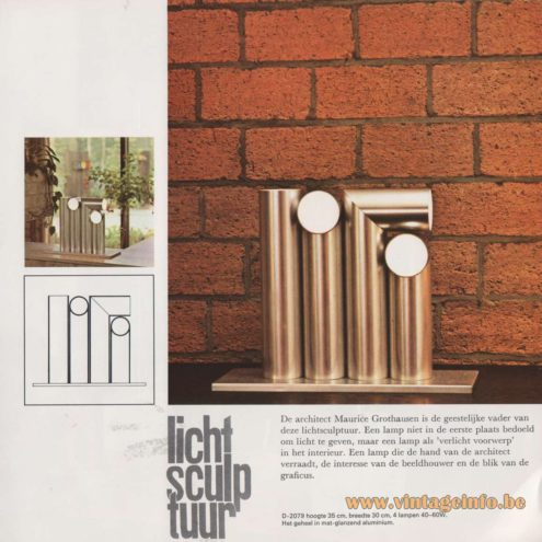 Raak Lichtsculptuur Table or Floor Lamp - D-2079 - Catalogue Picture