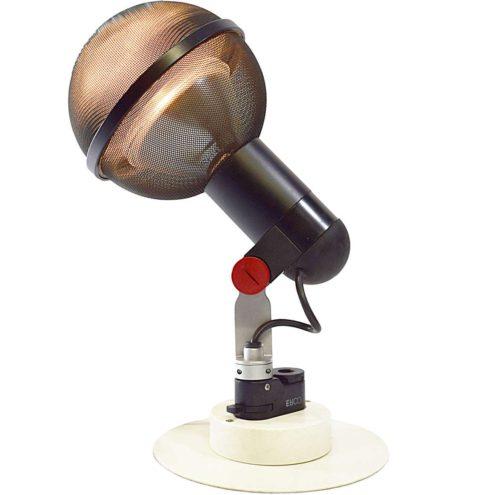 Roger Tallon ERCO Spots Micro 1975 industrial design black red plastic gauze aluminium globe rail 1970s