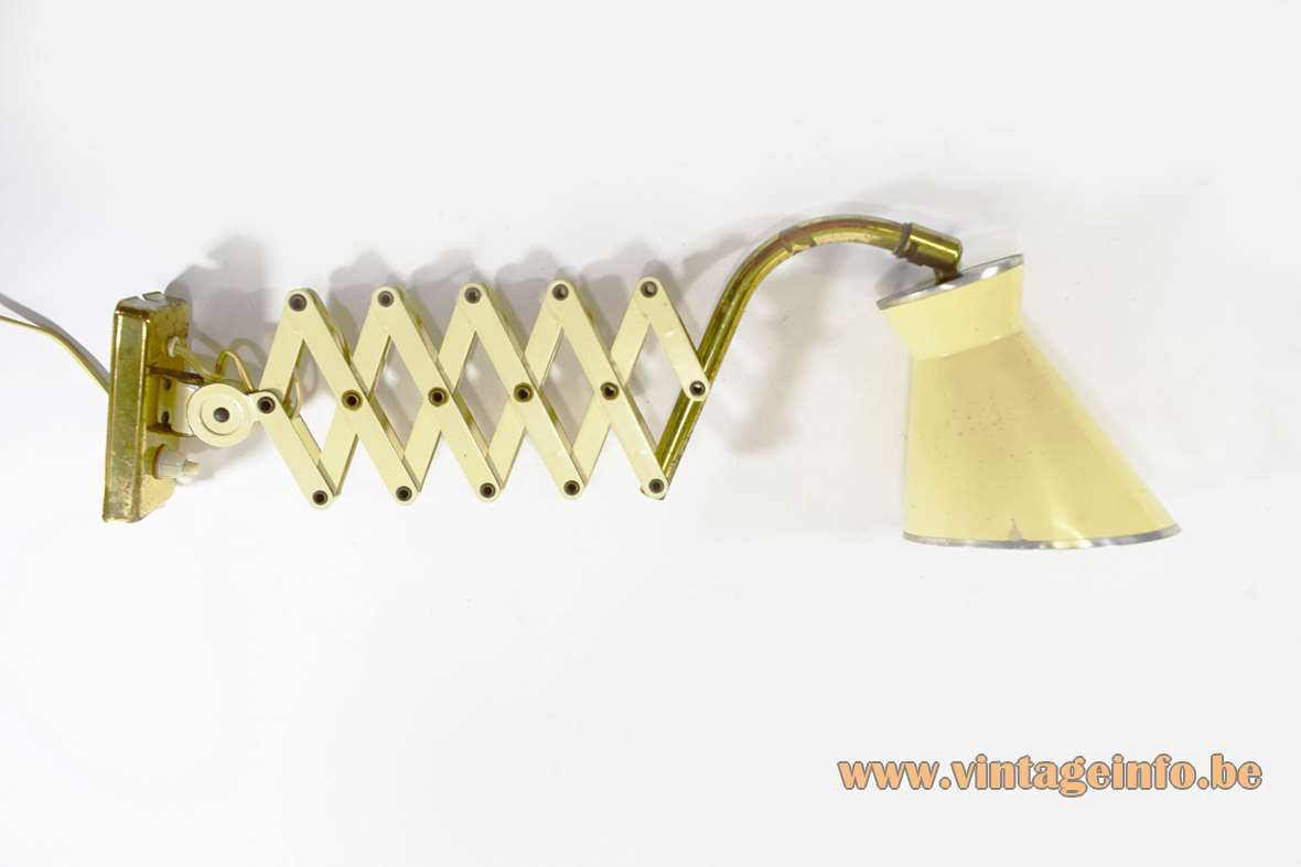1950s Diabolo Scissor Lamp