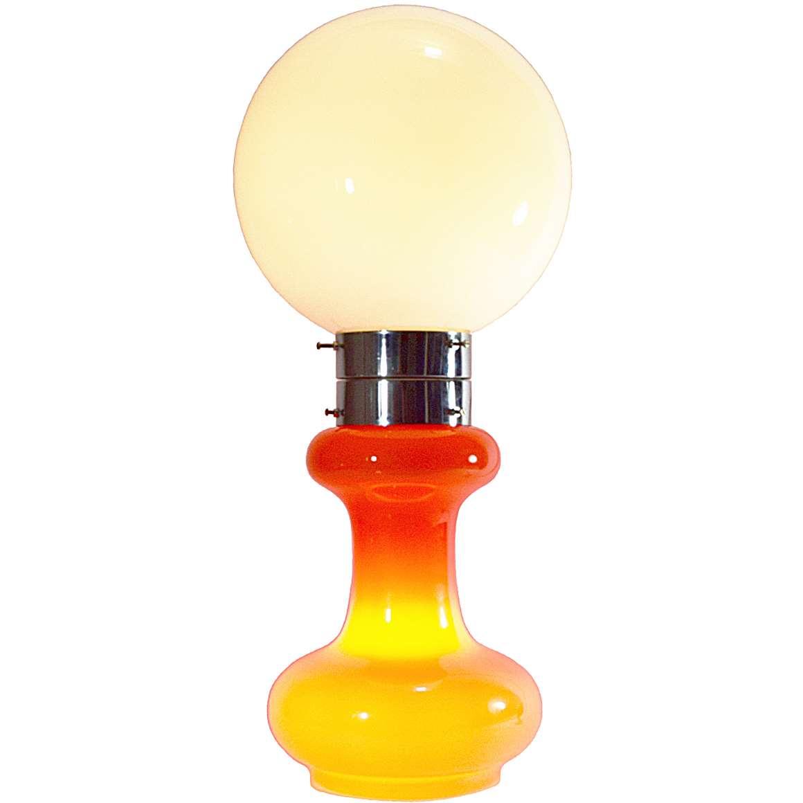 AV Mazzega Orange And White Floor Lamp