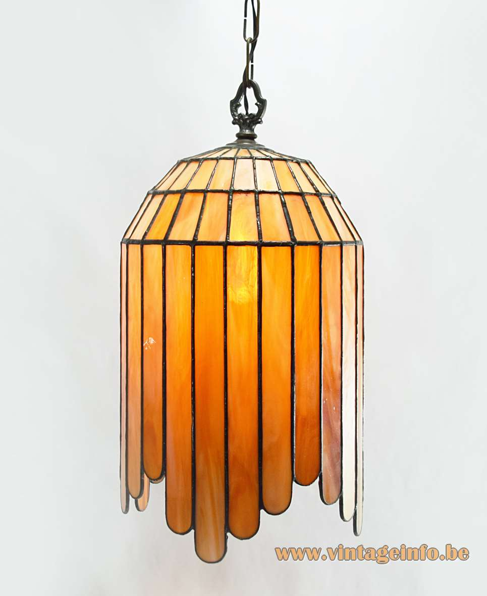 Art Deco Stained Glass Pendant Lamp Vintage Info All