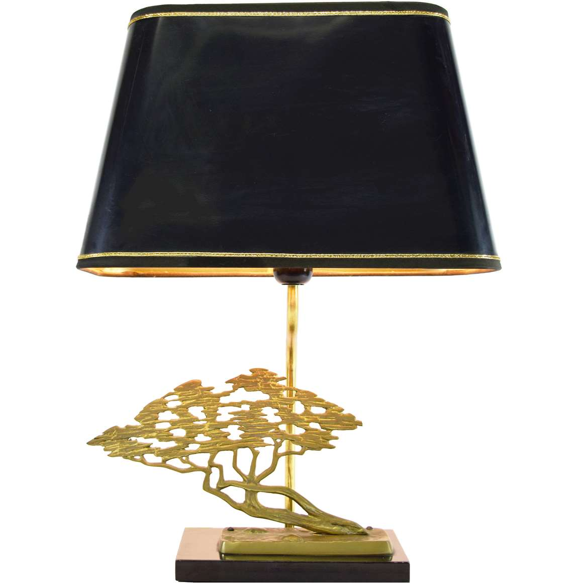 Bronze Bonsai Table Lamp Vintage Info All About