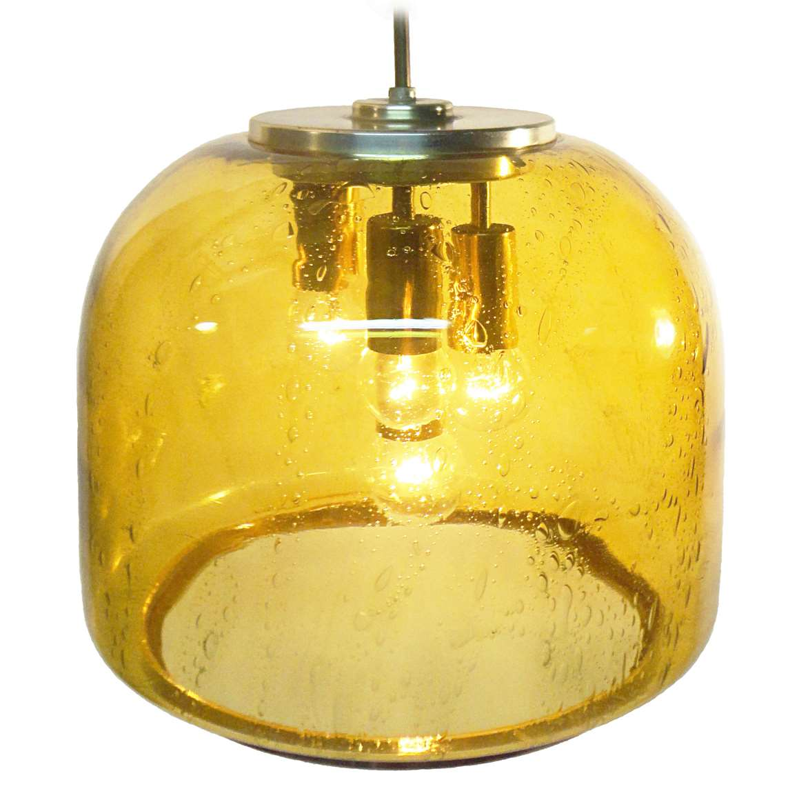 Doria Amber Glass Pendant Lamp Vintage Info All About