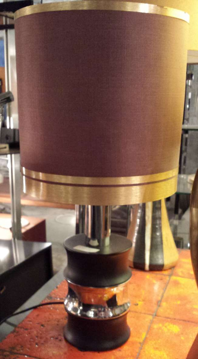 Massive Belgium - 1970s Faux Bambou Table Lamp