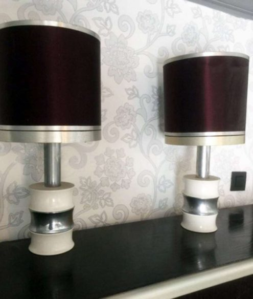 Faux Bambou Table Lamps - Massive, Belgium, 1970s