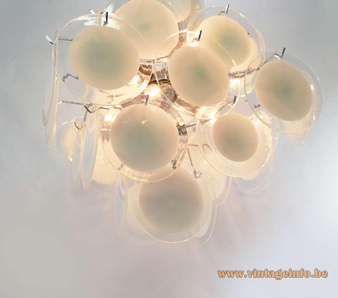 Gino Vistosi White Discs Chandelier