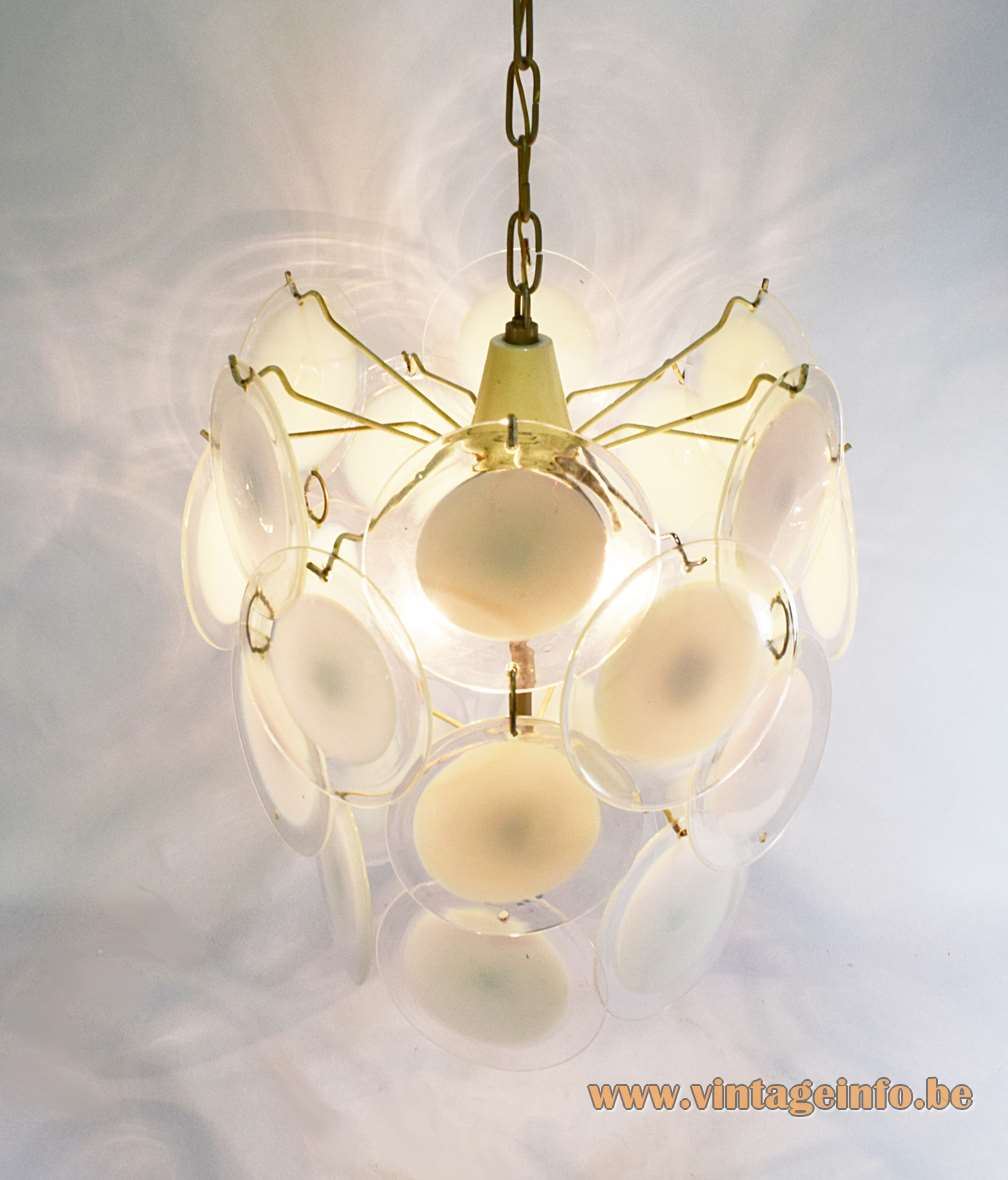 Gino Vistosi White Discs Chandelier