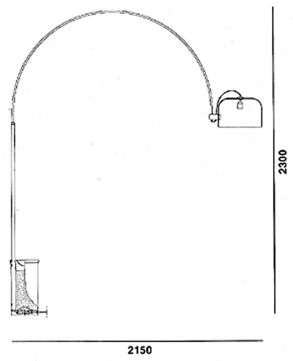Harvey Guzzini Arc Floor Lamp - scheme from the catalogue