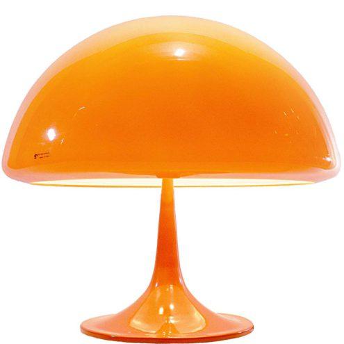 Harvey Guzzini table lamp Toledo 1968 design: Luigi Massoni orange acrylic Harveiluce IGuzzini 1960s 1970s MCM Mid-Century Modern