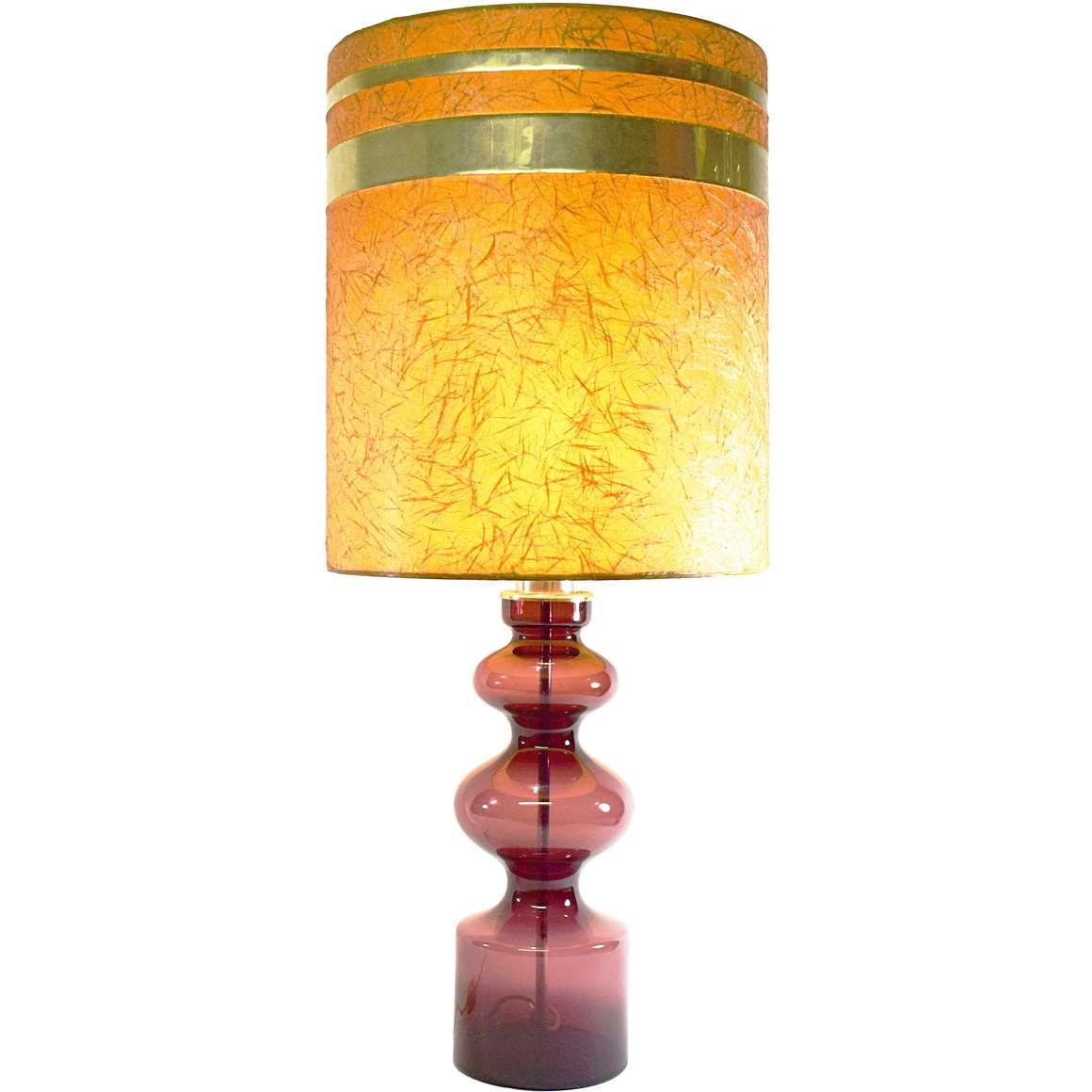 Aubergine Murano Table Lamp