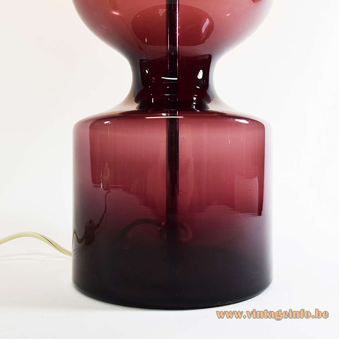 Aubergine Murano Table Lamp