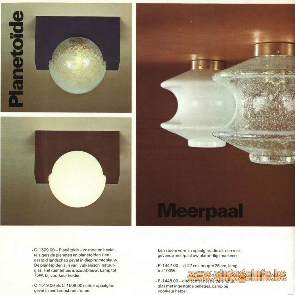 Raak Meerpaal P-1447 - P-1448 - Catalogue picture