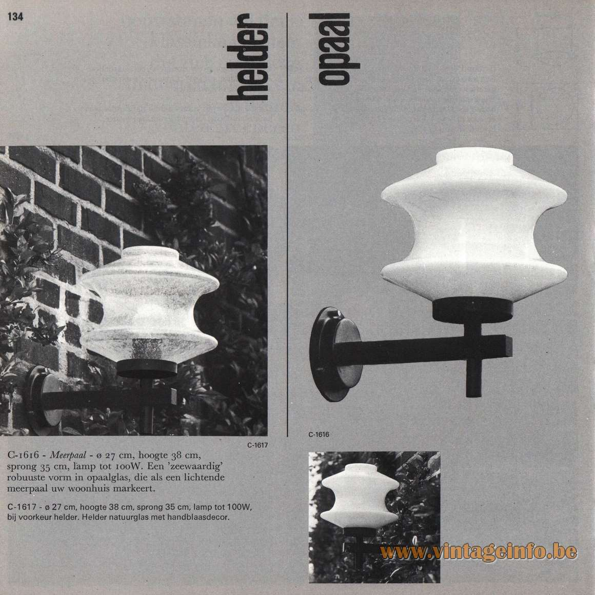 Raak Meerpaal Wall Lamp - Garden Wall Lamp - Catalogue Picture