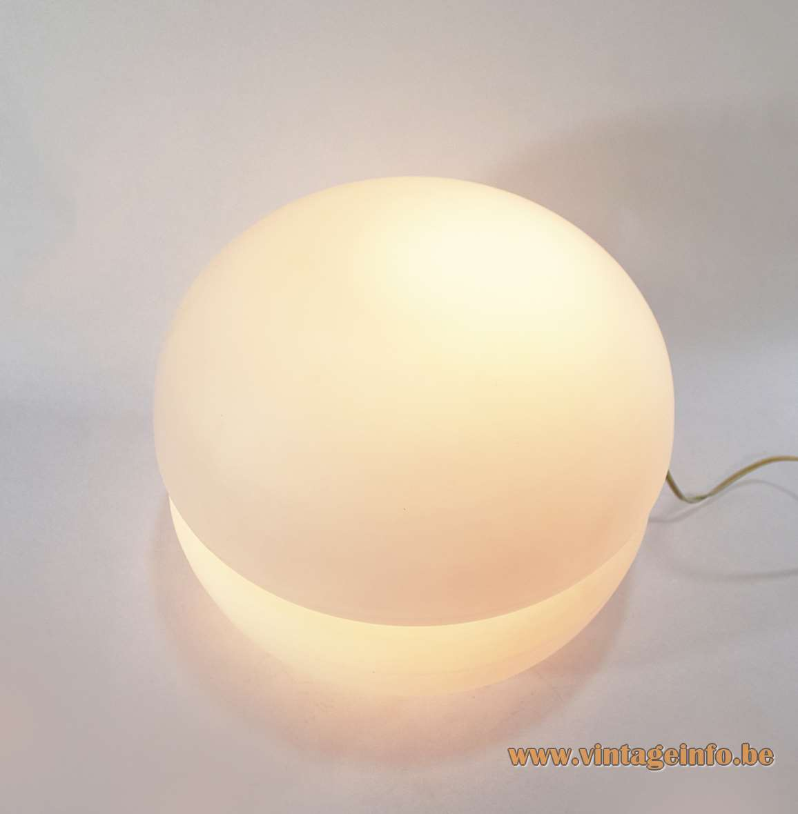 Reggiani Floor or Table Lamp 2 frosted opal glass parts 1950s 1960s Rupert Nikoll