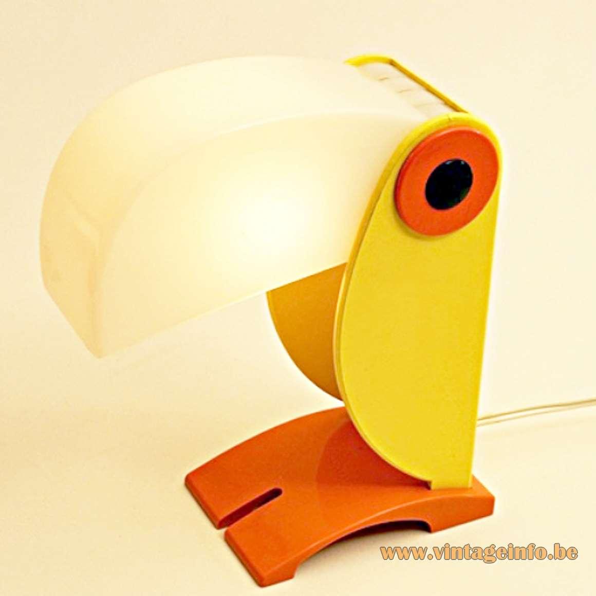 Toucan Table Lamp - Old Timer Ferrari - Yellow