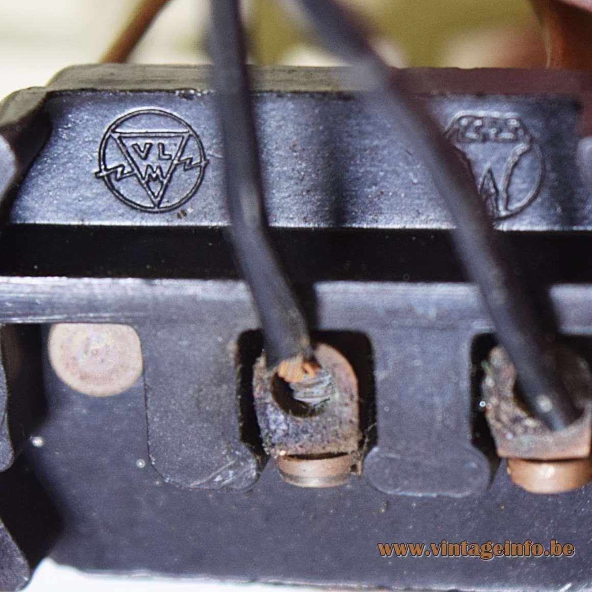 1950s Lantern Pendant Lamp - VLM Components socket