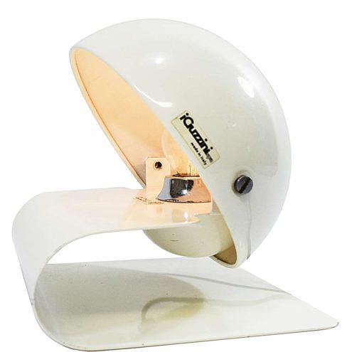 iGuzzini Bugia table or wall lamp 1975 design: Giuseppe Cormio white metal adjustable lampshade curved slat