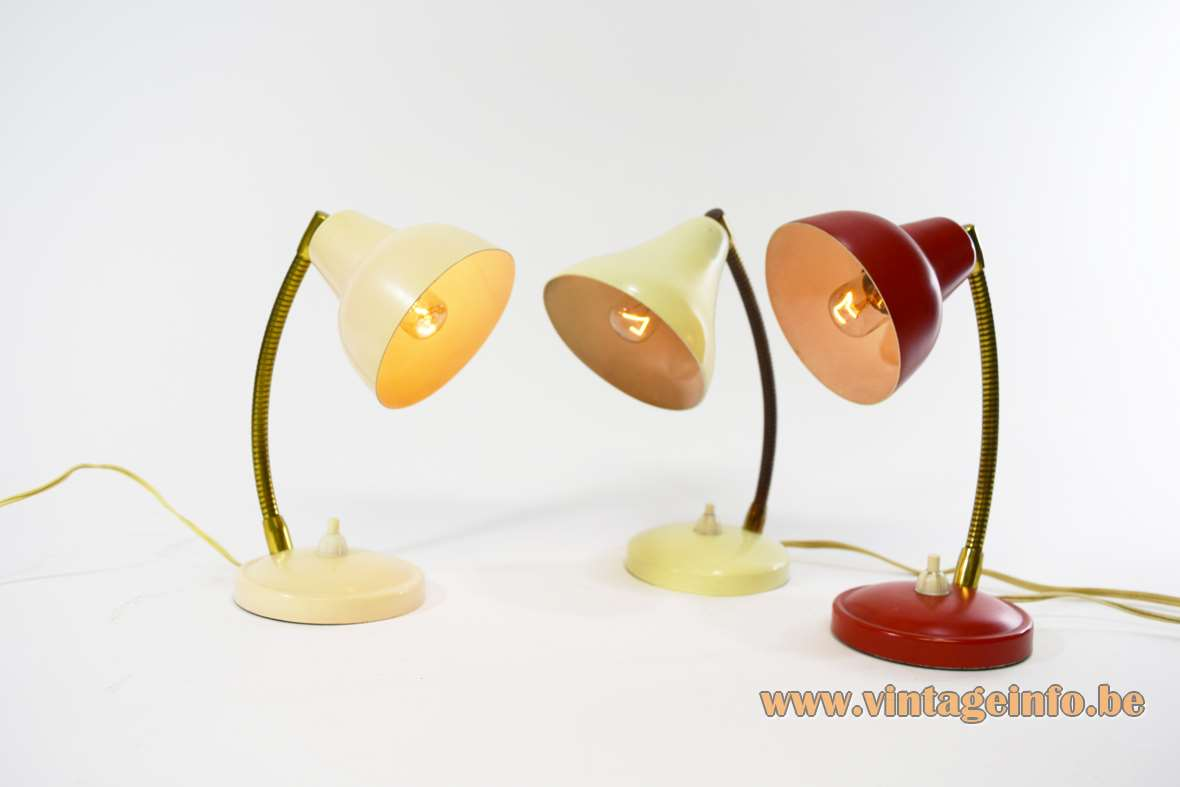 1950s Aluminor Bedside Lamps