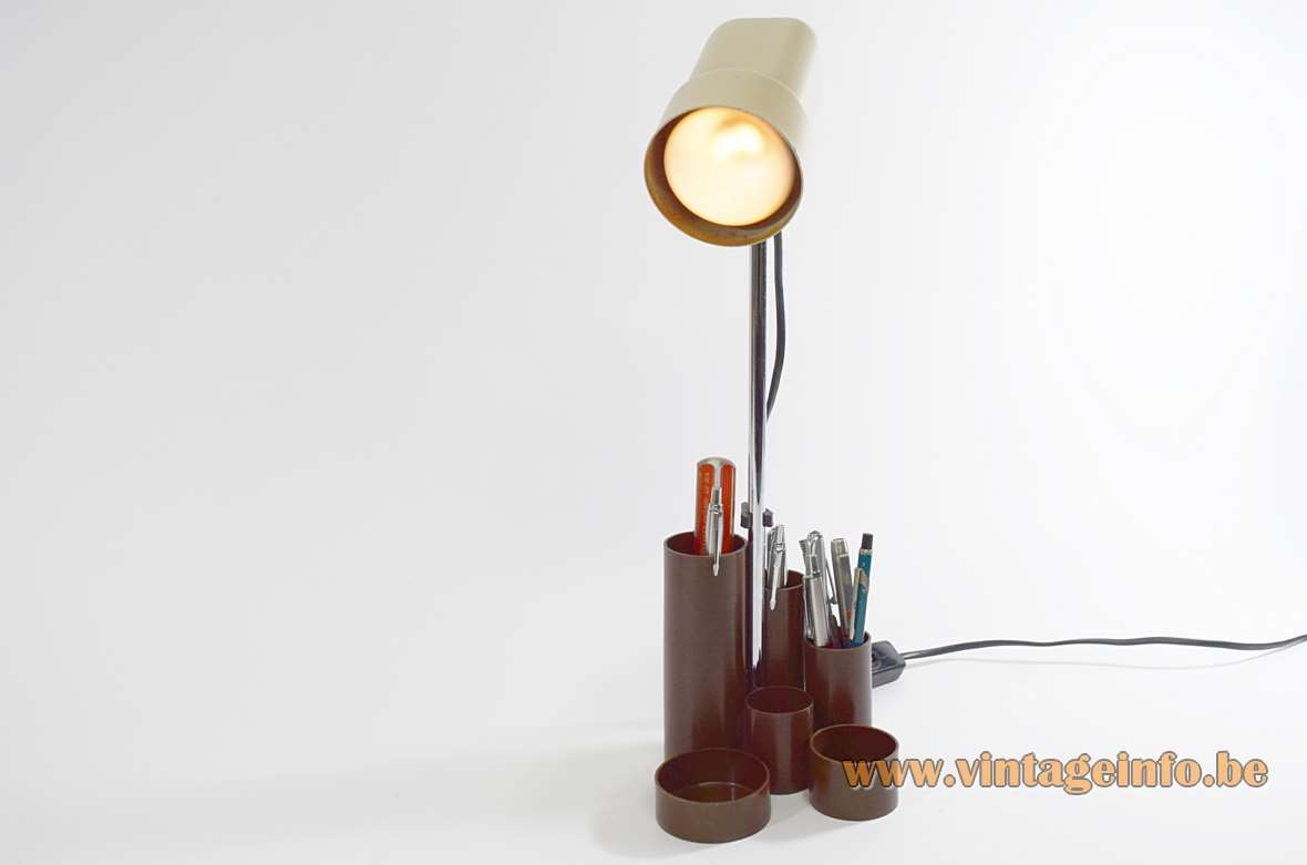 1970s Pen Tray Desk Lamp