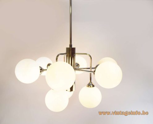 Atomic Globes Chandelier - Sptunik lamp made by Massive Belgium