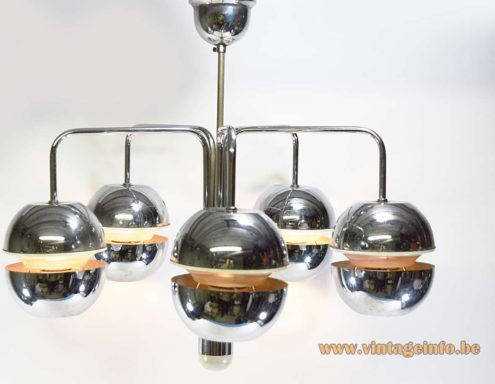 Chrome Globes Chandelier
