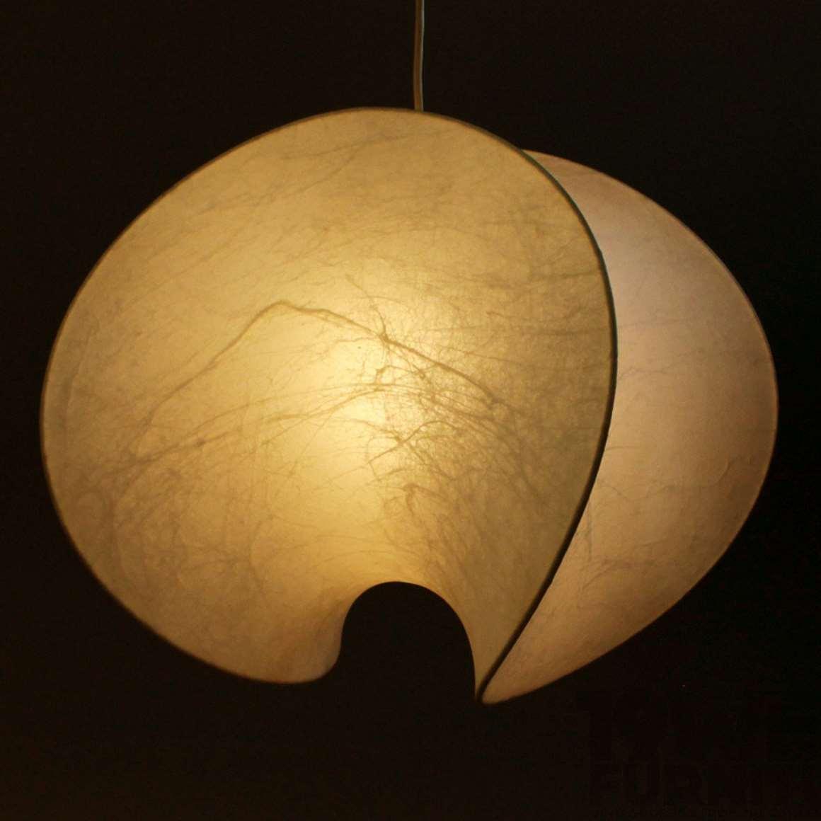 Goldkant Leuchten Cocoon Pendant Lamp Orsa 1960s Friedel Wauer