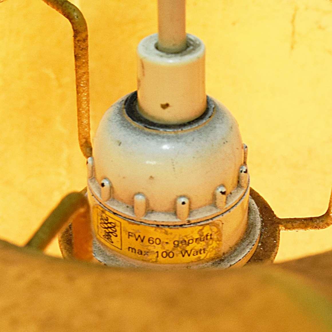 Goldkant Leuchten Cocoon Pendant Lamp spun plastic metal frame 1960s Friedel Wauer Bubble FLOS Eisenkeil MCM label