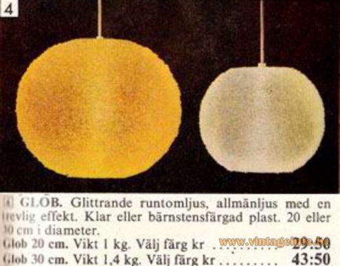 "IKEA/Rotoflex - Sugar Ball ""Sphere"" Pendant Lamps - Catalogue Picture"