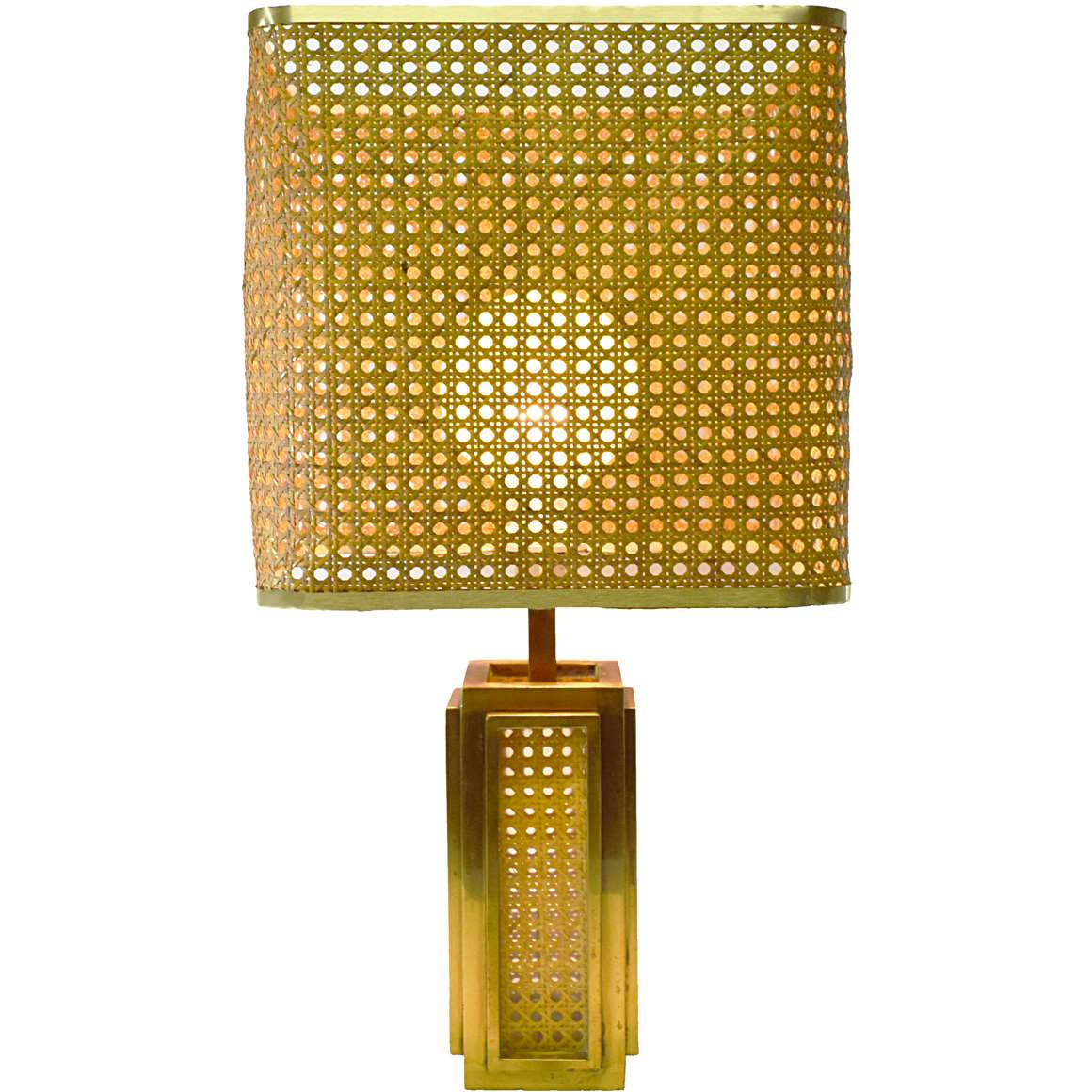 Italian Brass Amp Cane Table Lamp Vintage Info All About