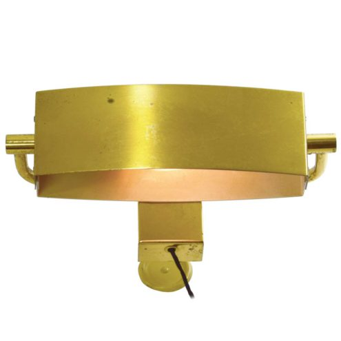 Jacques Biny picture lamp oval oblong brass light with revolving lampshade 1950s 1960s Lita France