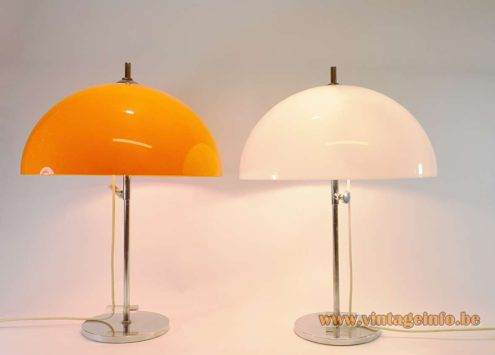 Gepo Orange & White Mushroom Table Lamp