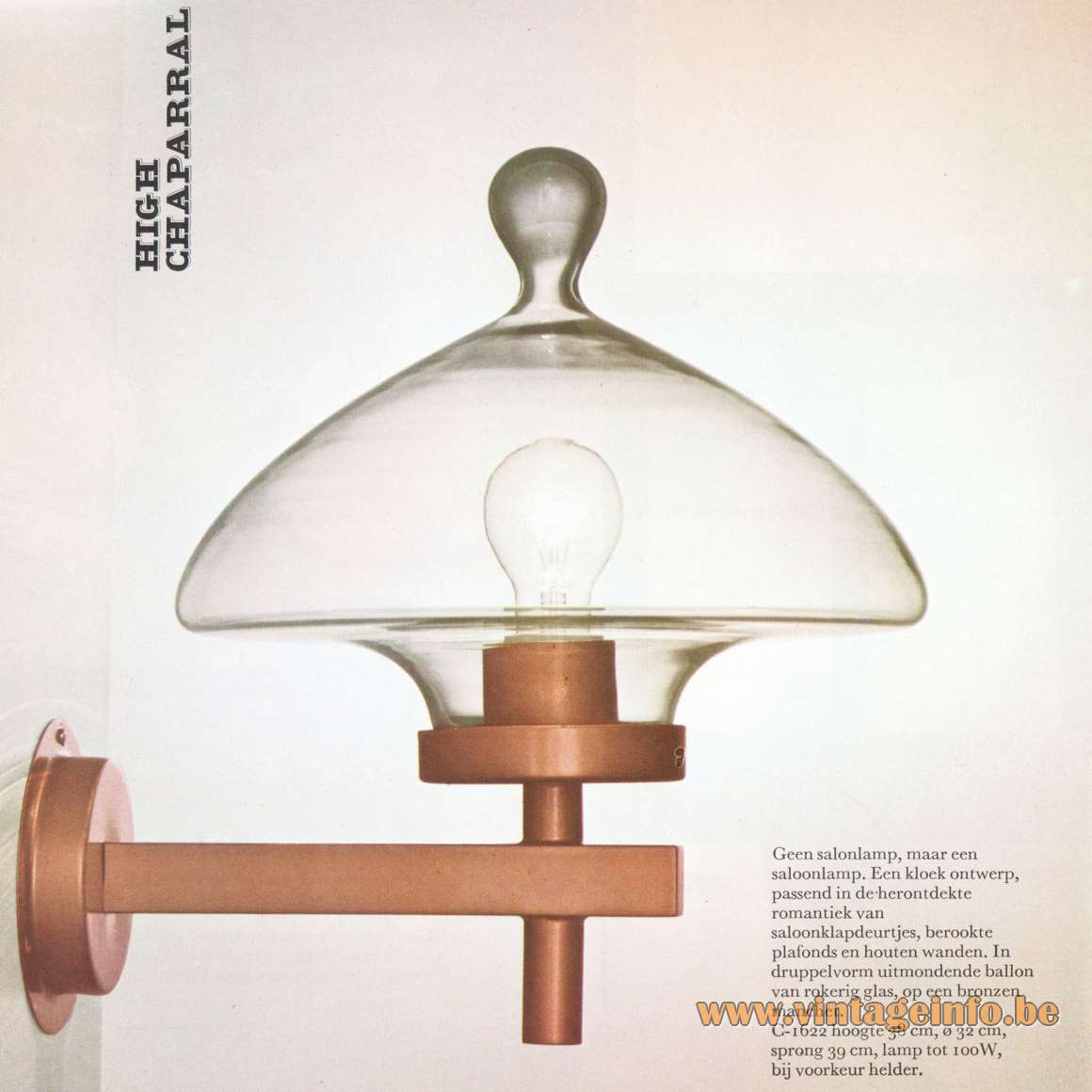 Raak Catalogue 8 - 1968 - High Chaparral Droplet Wall Lamp