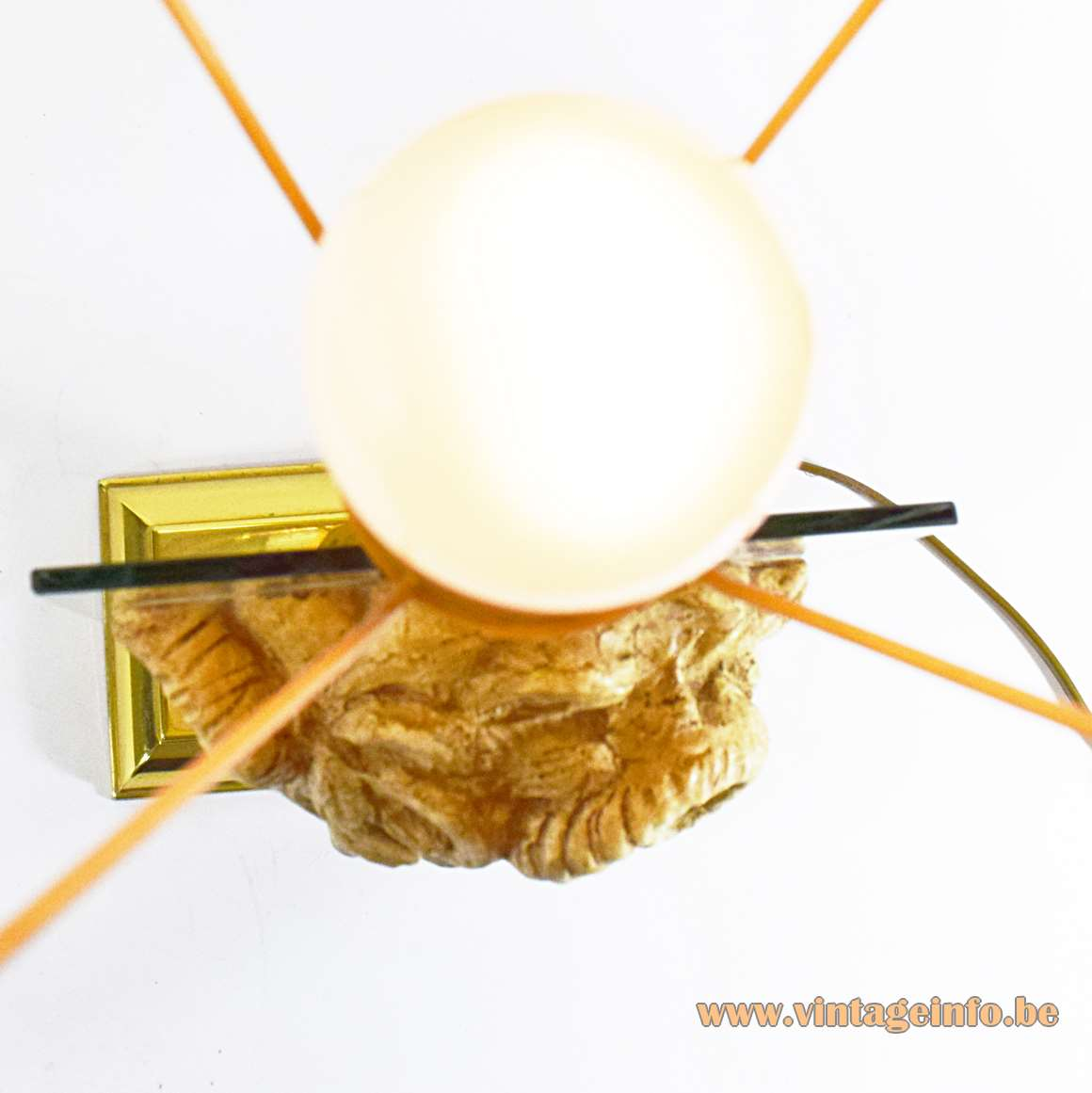 Satyr Table Lamp - top view - light bulb