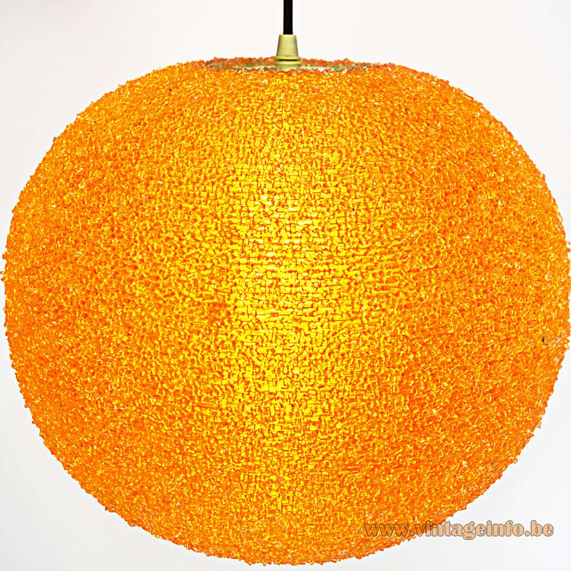 Sugar Ball Pendant Lamp John Sylvia Reid Sphere orange globe Rotaflex ARP 1950s 1960s MCM