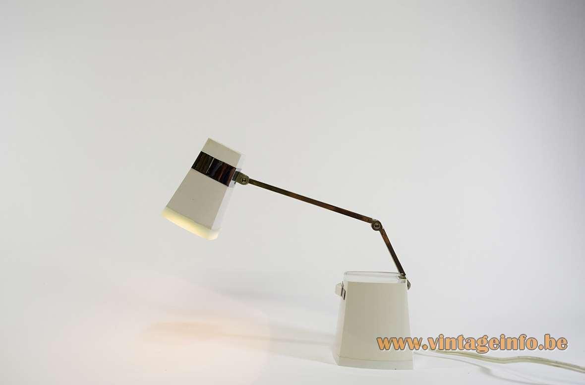 Taki Light Iris Tada Kiko table lamp TL-84 conical square plastic foldable Hi/Low MCM 1960s 1970s
