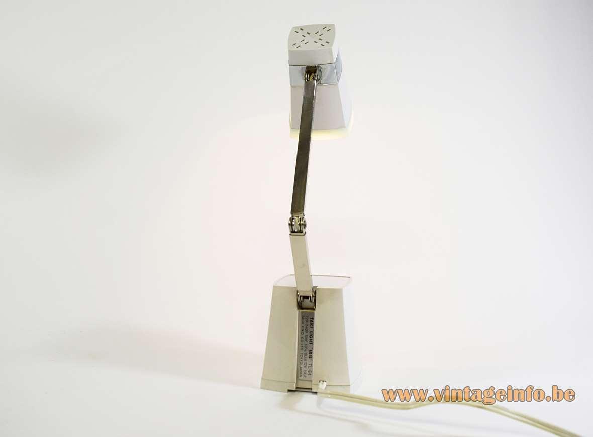 Taki Light Iris table lamp TL-84 conical square base plastic foldable lampshade 1960s 1970s Tada Kiko