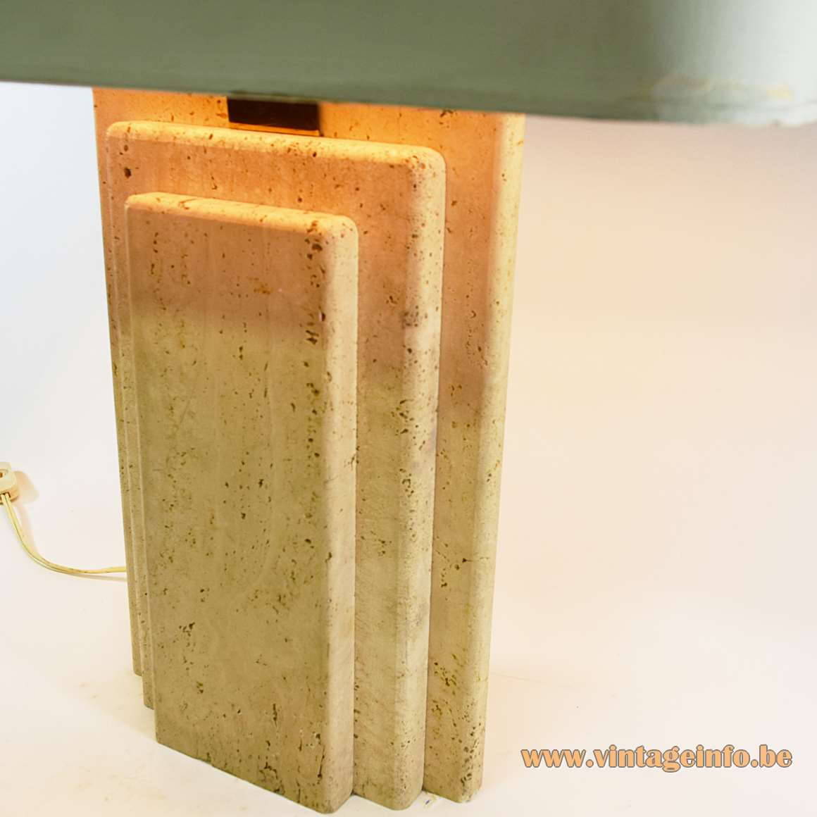 Travertine Table Lamp - Camille Breesch Belgium