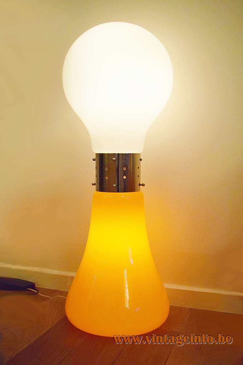 Carlo Nason - AV Mazzega floor lamp Birillo - Orange & White version