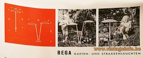 BEGA garden lamps Expo 58 - 1950s catalogue