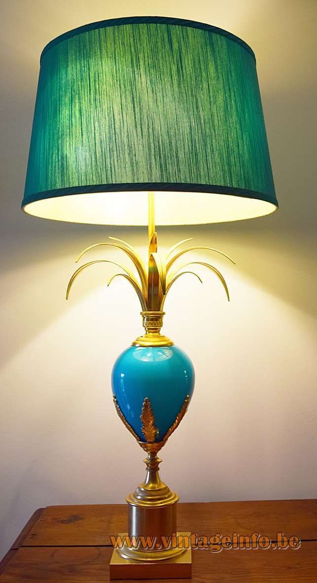 Boulanger Ostrich Egg Table Lamps - Turquoise edition