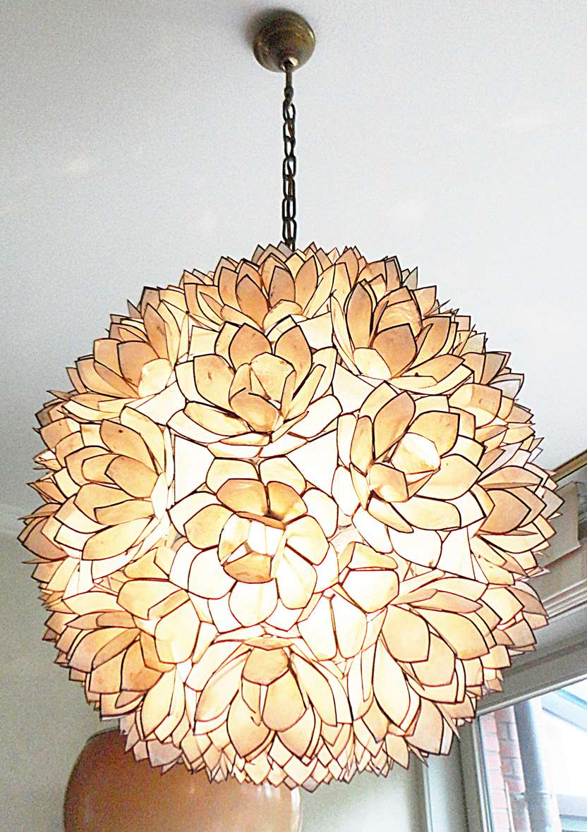 Capiz Flower Globe Chandelier Vintage Info All About