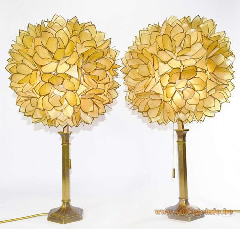 Capiz Shell Table Lamps