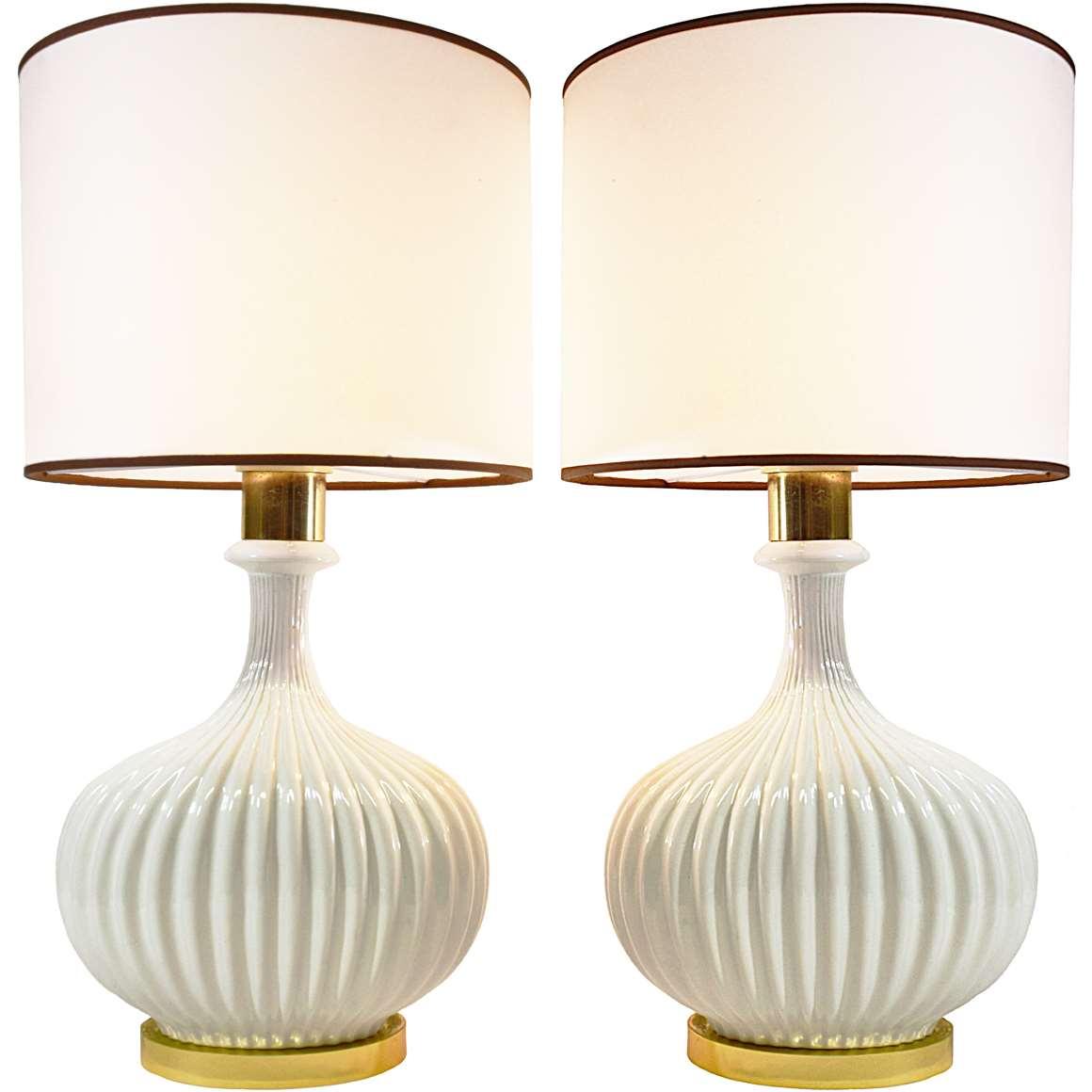 Ceramic & Brass Table Lamps